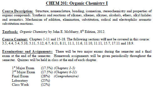 Organic Reactions Homework