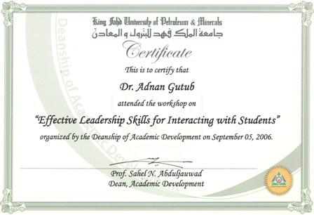 Dr adnan gutub resume effective leadership skills for interacting with student certificate jpg pdf yadclub Image collections